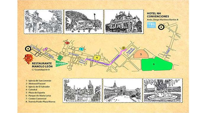 Ilustraciones y plano para BARCELO VIAJES