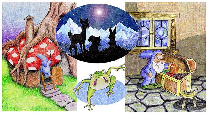 """Ilustraciones para """"La fiesta de la primavera"""" de EDITORIAL CLAUDIA"""
