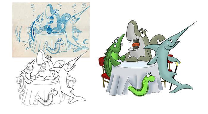 Proceso de creación de una ilustración para FUNDACIÓN DOÑANA