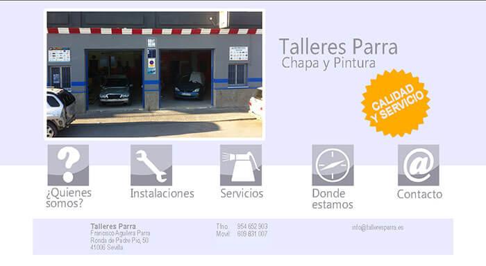 Web de TALLERES PARRA -Chapa y pintura (Sevilla)