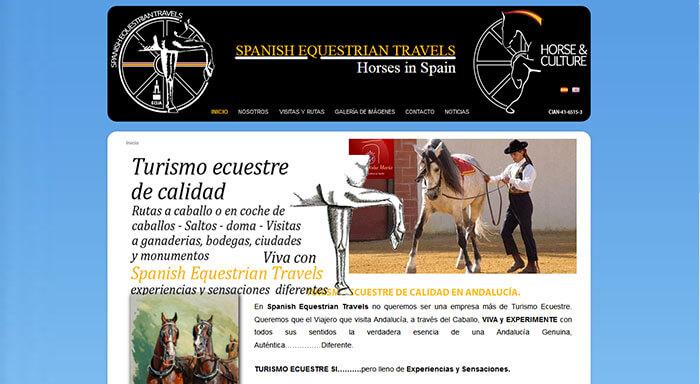 Web de la empresa de turismo ecuestre http://horsesinspain.com/