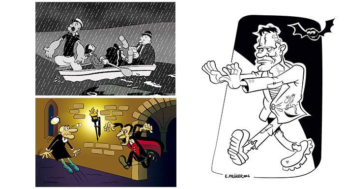 Ilustraciones diversas Entrestrazos