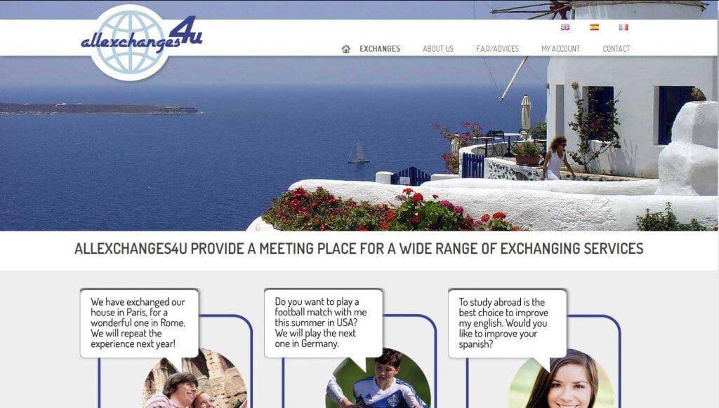 Allexchanges4u - Web de servicios de intercambios