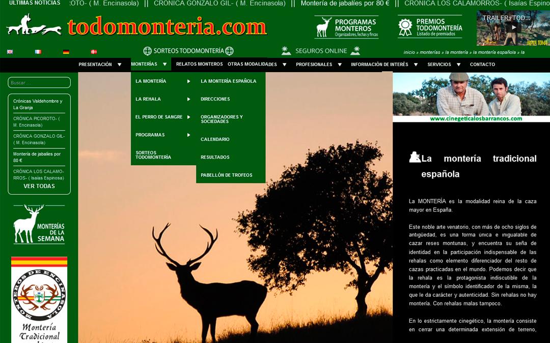TODOMONTERÍA, LA WEB DEL MONTERO